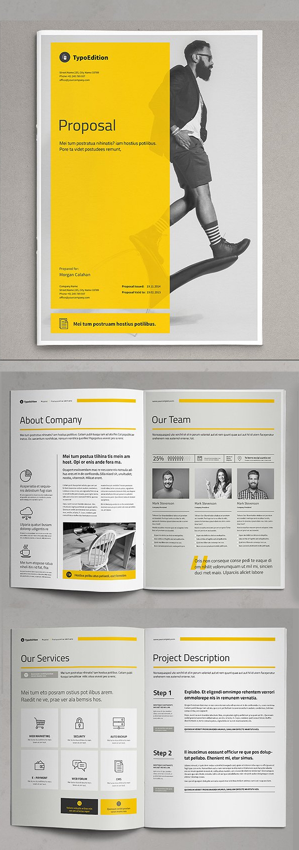Business Proposal Templates Design Graphic Design Junction