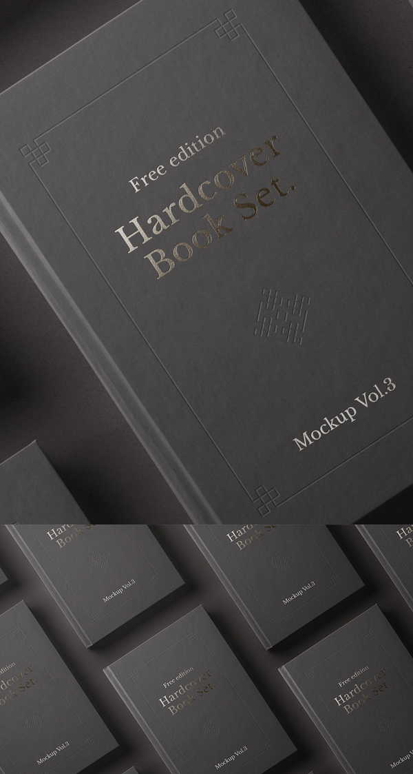 Free Psd Book Mockup Hardcover