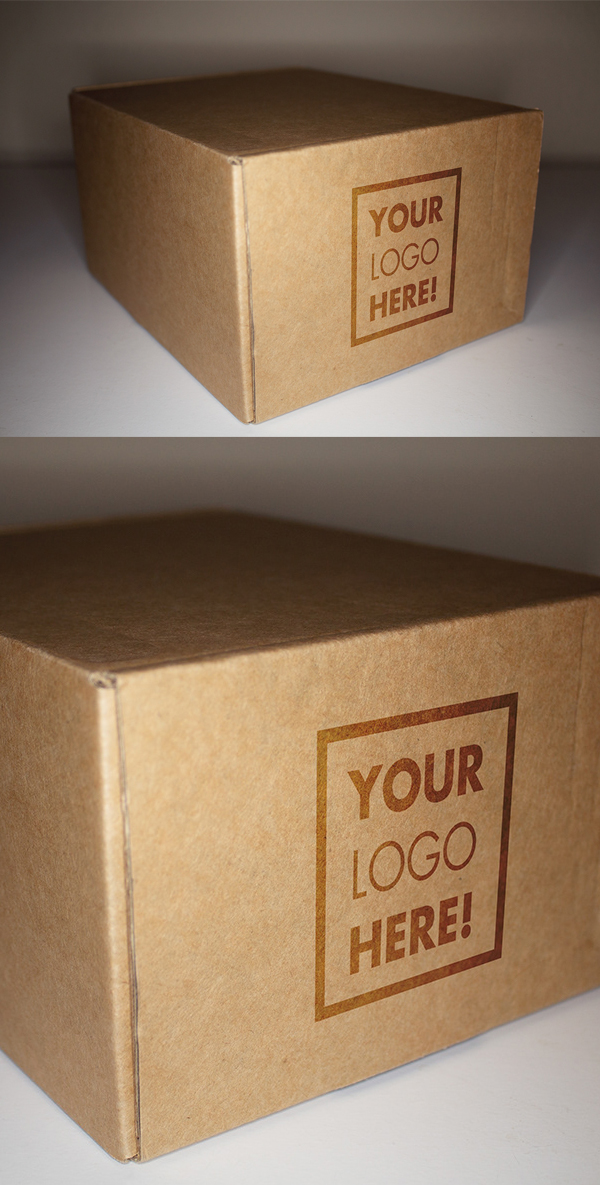 Free Packaging Box with LOGO Mockup