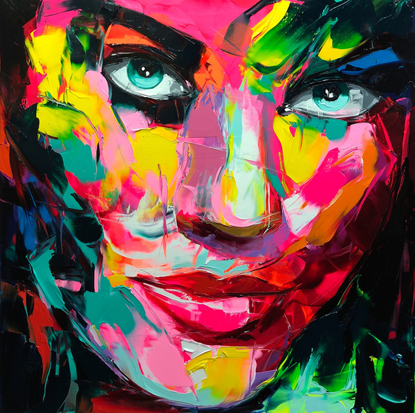 Amazing Graffiti Portrait Painting by Francoise Nielly - 14