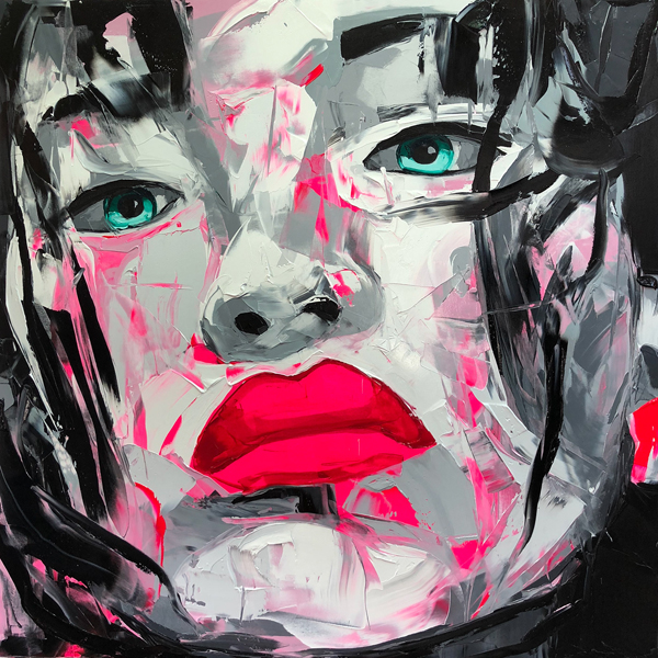 Amazing Graffiti Portrait Painting by Francoise Nielly - 15
