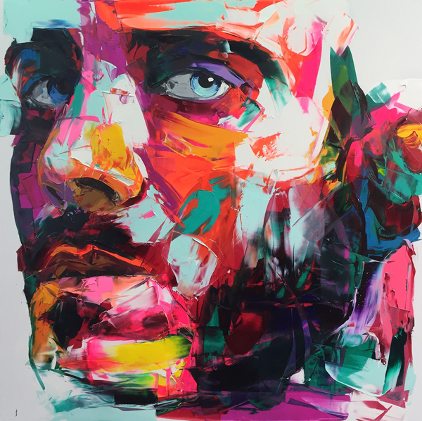 Amazing Graffiti Portrait Painting by Francoise Nielly - 18