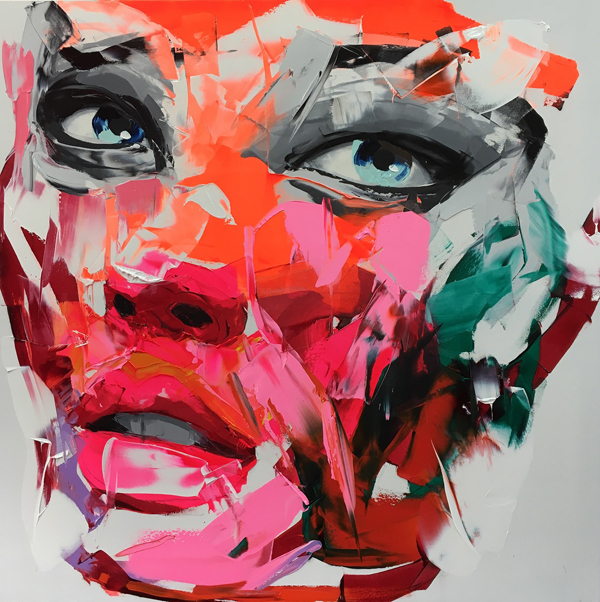 Amazing Graffiti Portrait Painting by Francoise Nielly - 19