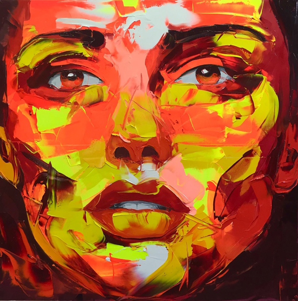Amazing Graffiti Portrait Painting by Francoise Nielly - 20