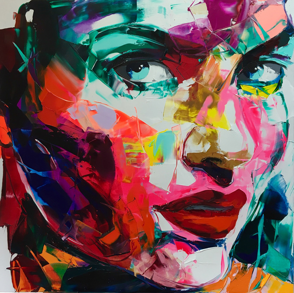 Amazing Graffiti Portrait Painting by Francoise Nielly - 21
