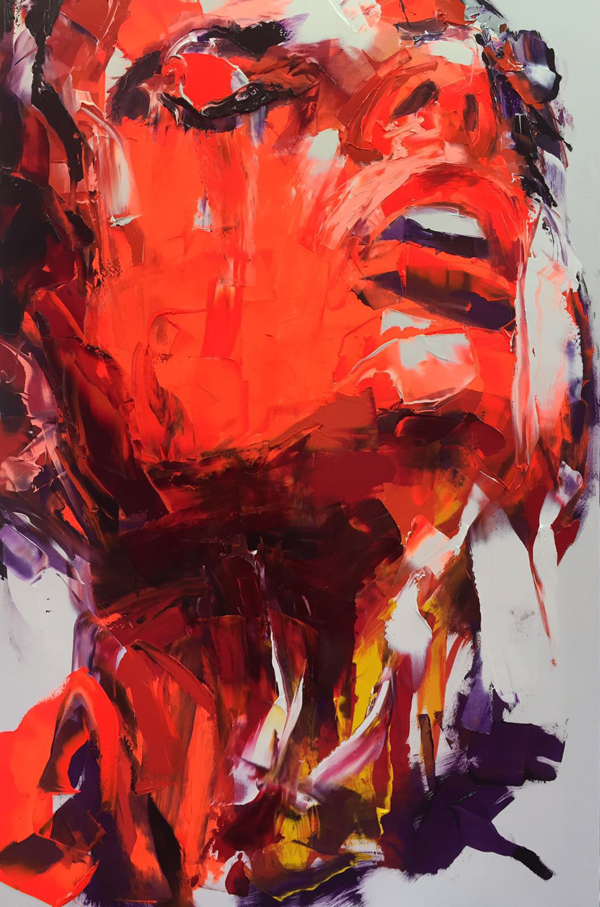 Amazing Graffiti Portrait Painting by Francoise Nielly - 22