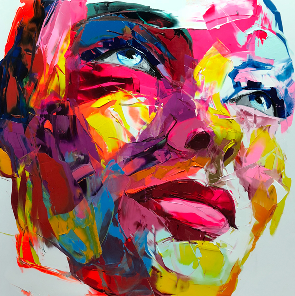 Amazing Graffiti Portrait Painting by Francoise Nielly - 3