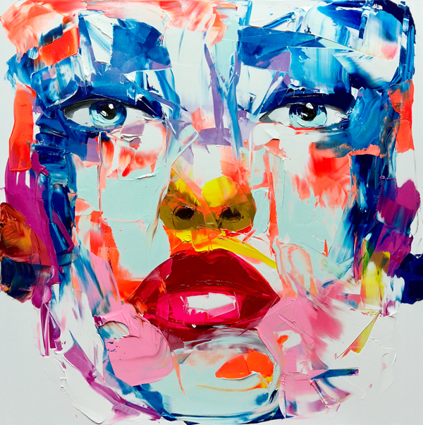 Amazing Graffiti Portrait Painting by Francoise Nielly - 7