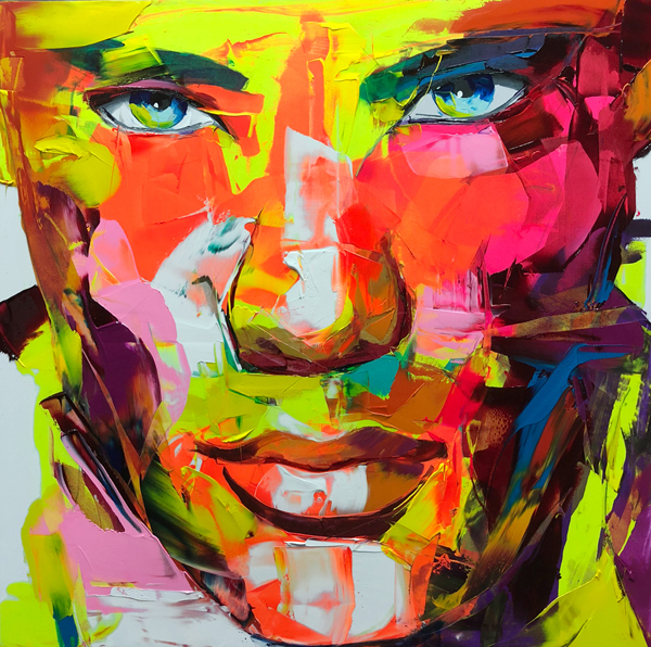 Amazing Graffiti Portrait Painting by Francoise Nielly - 8
