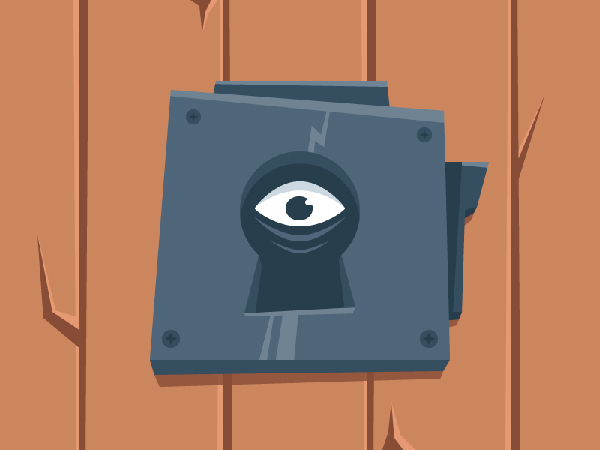 Create a Scary Look-Through-The-Keyhole Illustration in Adobe Illustrator
