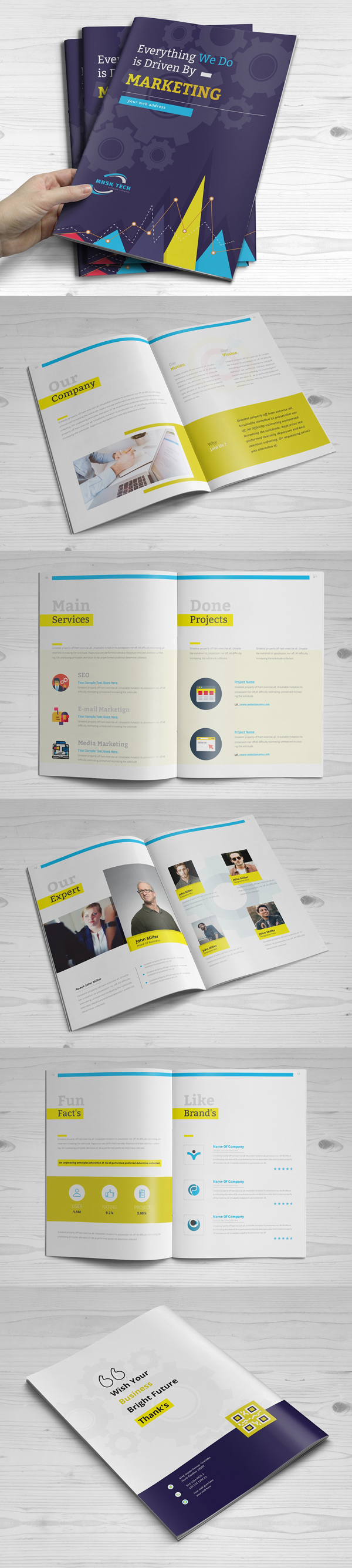 100 Professional Corporate Brochure Templates - 1