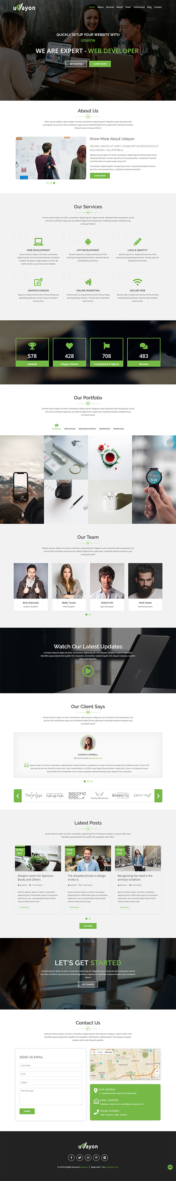 Udayon - Onepager Multipurpose Parallax Template