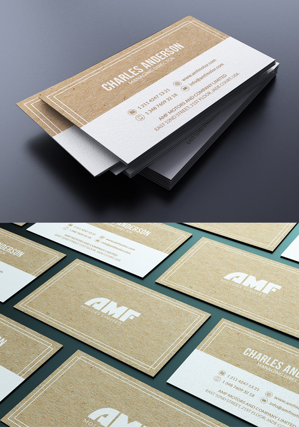 Simple Kraft Business Card