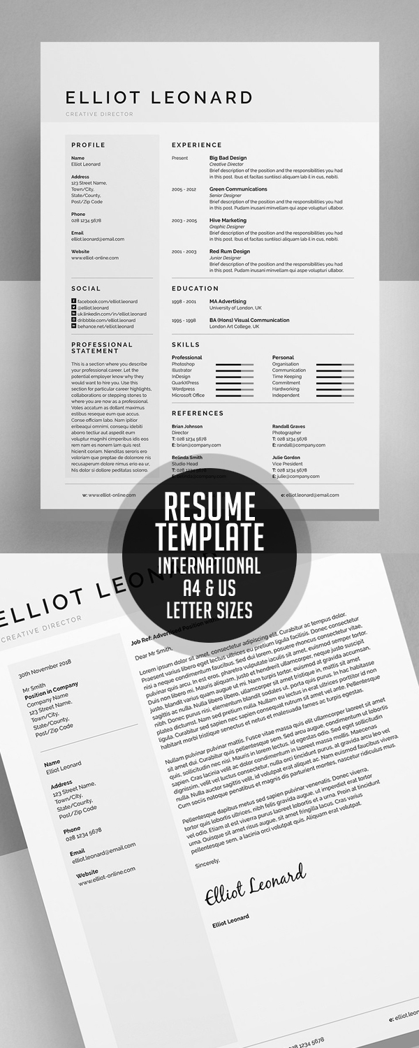 Modern Resume Templates  Design  Graphic Design Junction