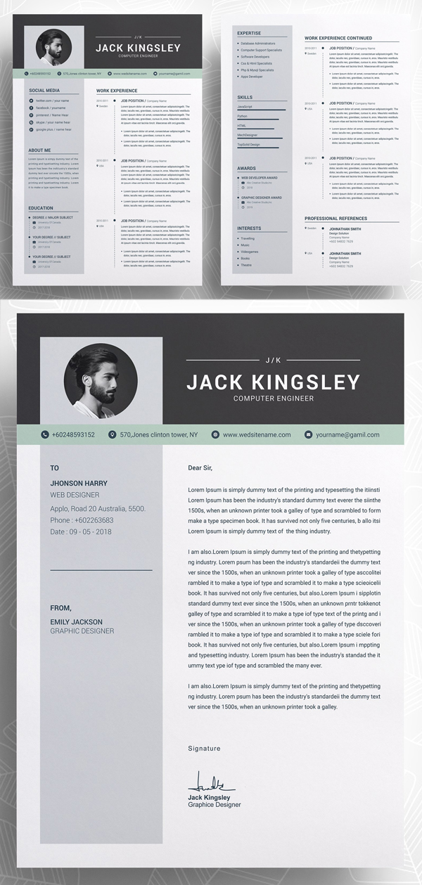 Word Resume with Cover Letter