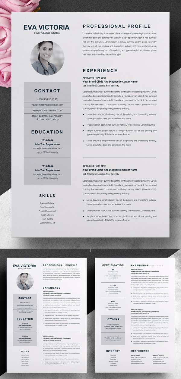 Nurse Resume Template + Cover Letter