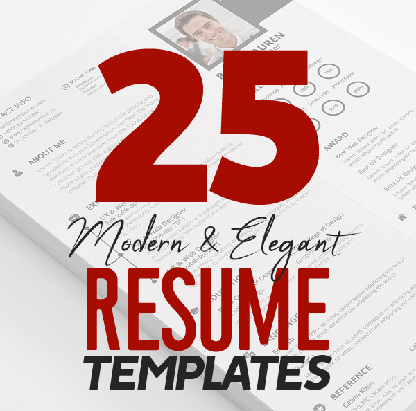 25 Modern Resume Templates with Cover Letter