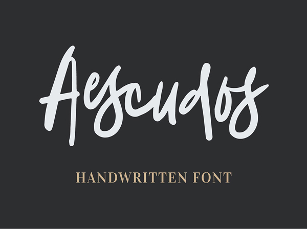 Aescudos Handwritten Free Font