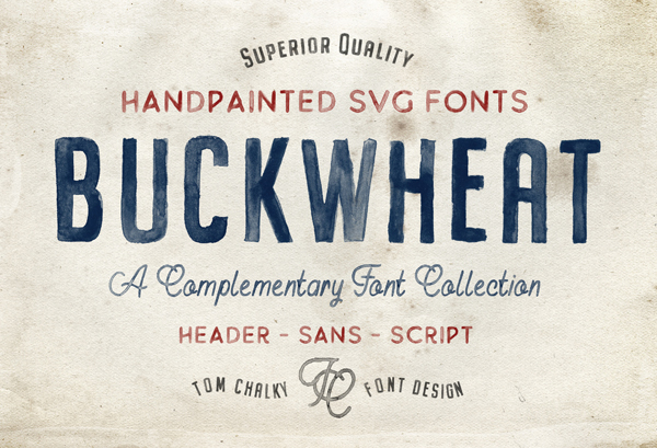 Buckwheat SVG Free Font Design