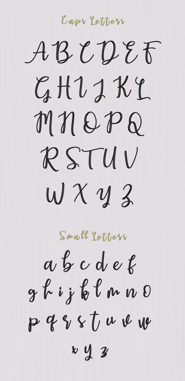Earcy Night Font Letters