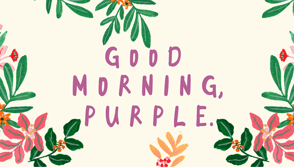 Good Morning Purple Free Font