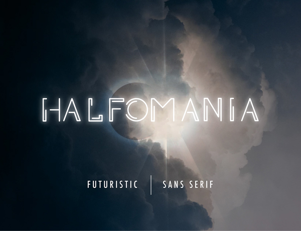 Halfomania free fonts