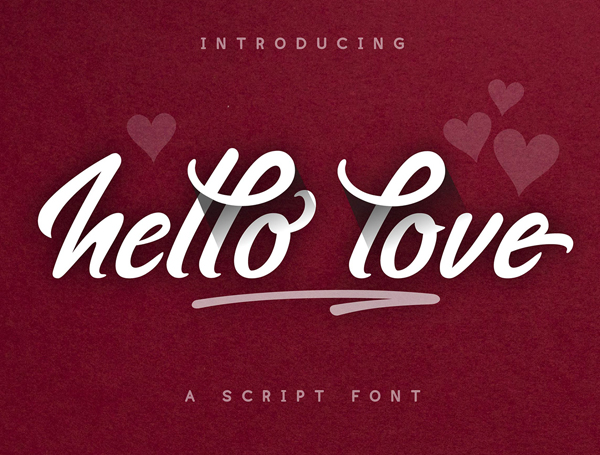 Hello Love Brush  Free Font