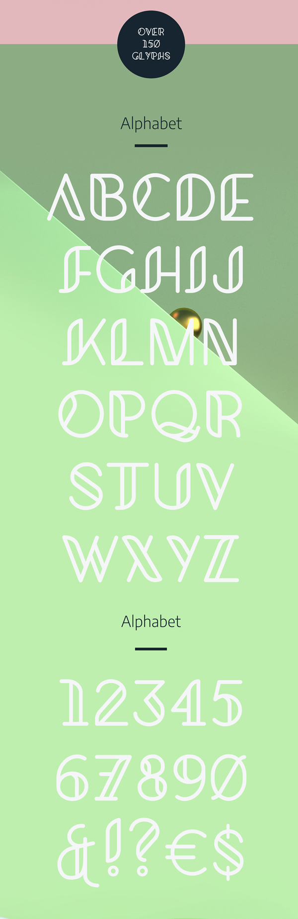 Kielo fonts and letters