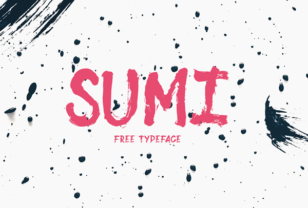Sumi Free Font - 50 Best Free Brush Fonts
