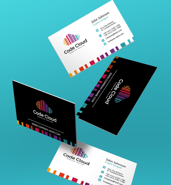 Code Cloud Business Card Corporate Identity Template