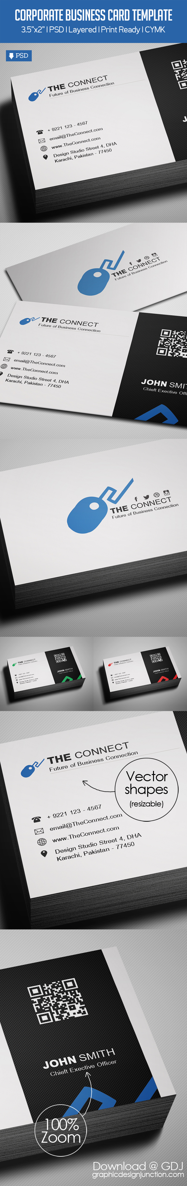 Freebie – Corporate Business Card PSD Template