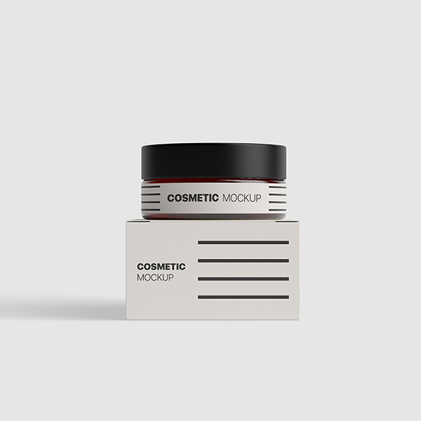 Free Cosmetics Packaging Mockup PSD Template