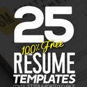 Post Thumbnail of 25 Fresh Free Professional Resume Templates