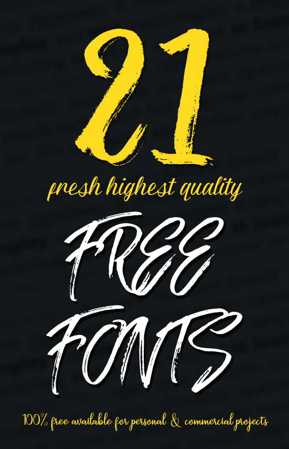 21 New Fresh Free Fonts