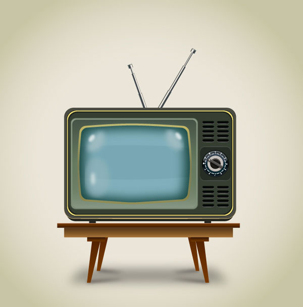 Create a Vintage Television In Adobe Illustrator Tutorial
