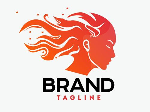 Fire Woman Logo Template