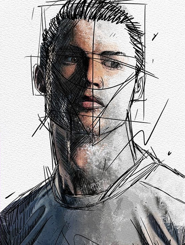 How to Create Portrait Sketch Effect in Photoshop - Photoshop Tutorials