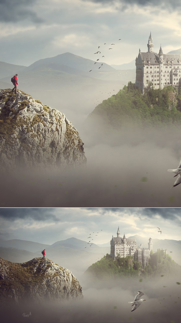 Photoshop Fantasy Landscape Compositing Photo Manipulation Tutorial