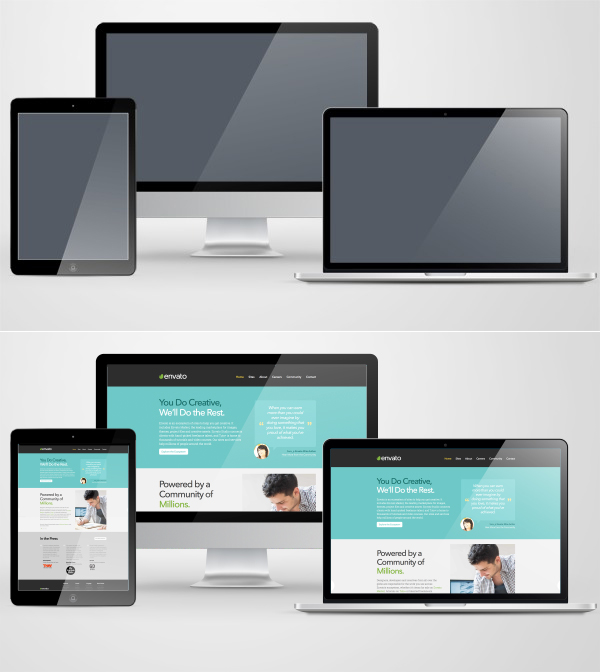 Create a Responsive Screen Mockup Using Smart Objects in Adobe Photoshop