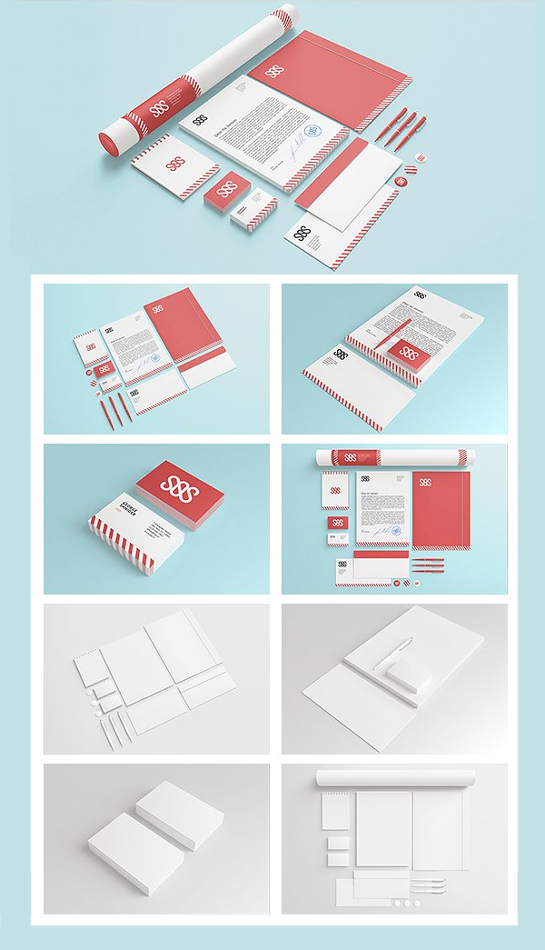 Photorealistic Branding / Identity/ Stationary Mock-up