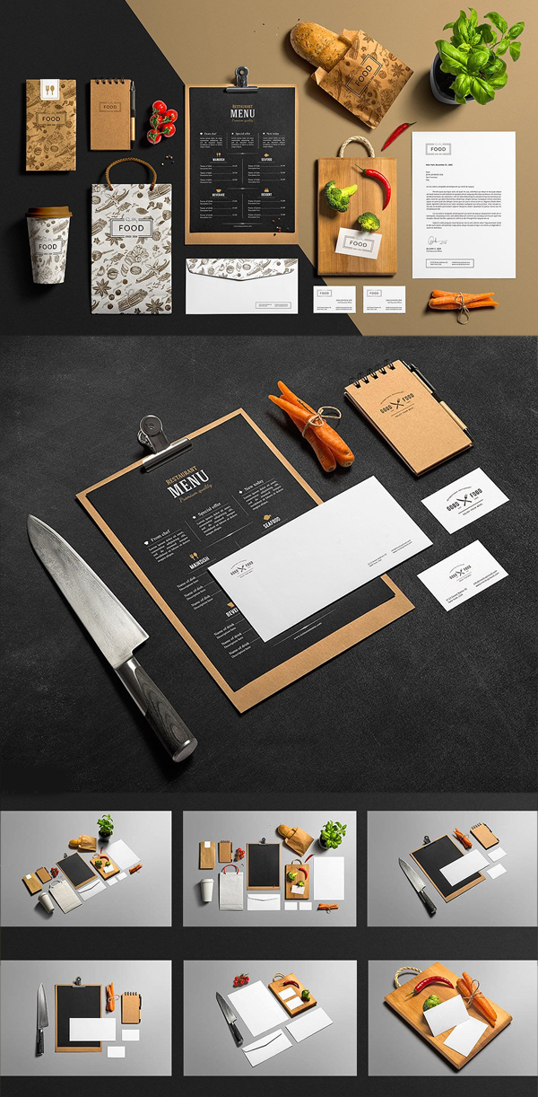 Restaurant & Bar / Stationery Mock-Up
