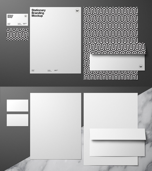 Stationary Branding Mockup - US