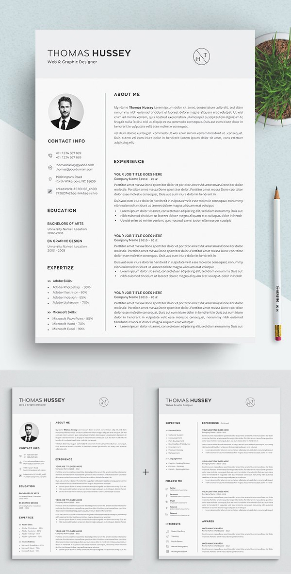 Resume / CV – (5 Pages)