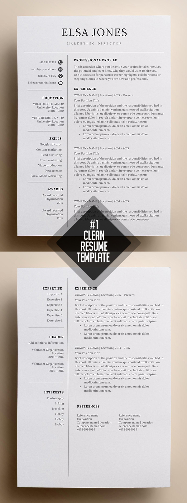 2018 s best selling resume templates design graphic design junction