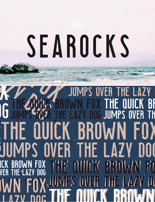 Searocks Condensed Free Font Design