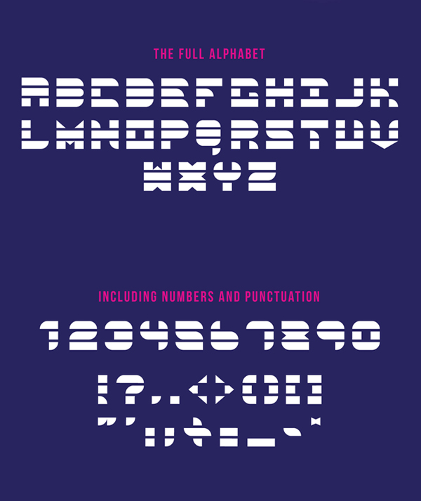 Space Geometric Font Letters
