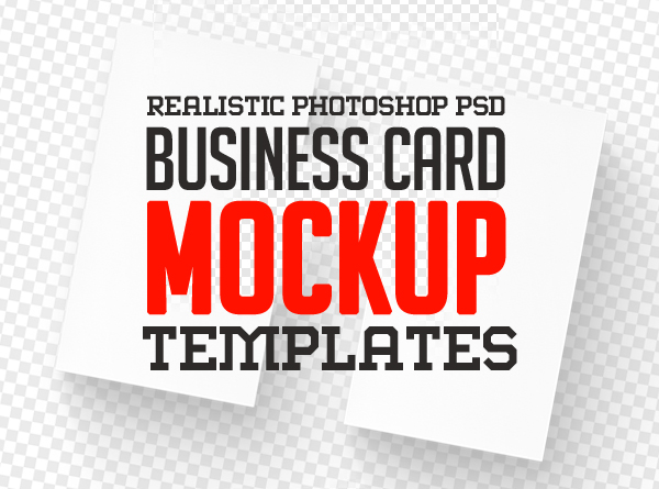Realistic Business Card Mockup Templates (20+)