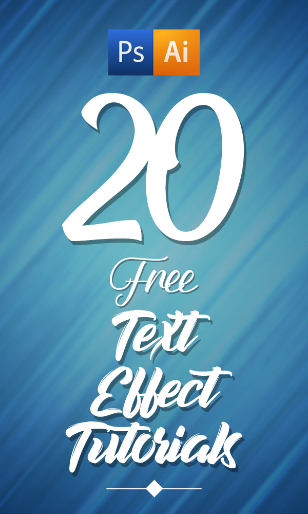 60+special free technique for photoshop text effect tutorials.