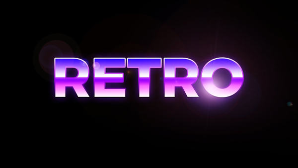 Adobe Photoshop Tutorial - Retro 80s Style Text Effect