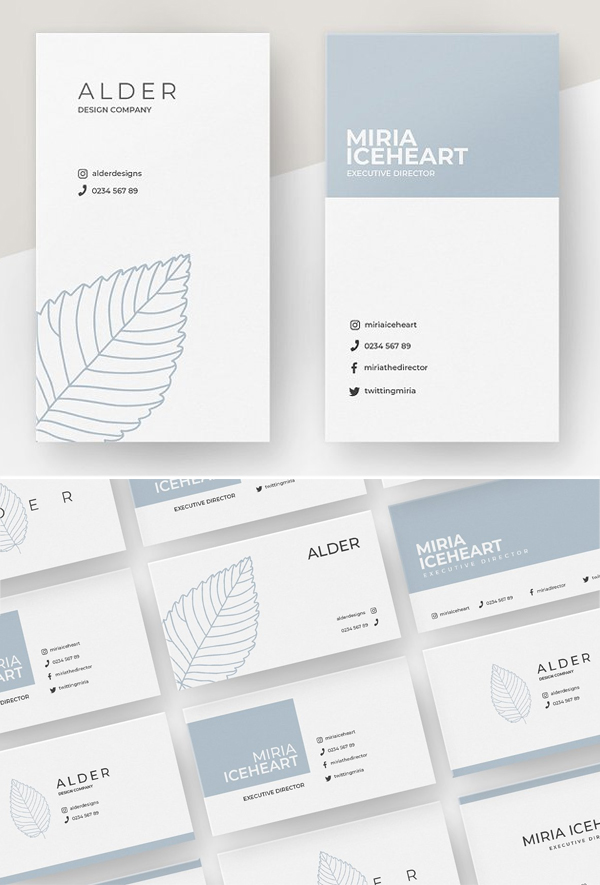 Alder Business Card Templates